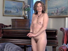 Sofia Matthews strips naked on grand piano