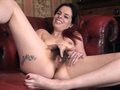 Tiffany Naylor strips and masturbates on her chair