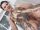 Ella Martin enjoys muddy fun in her lonely tub