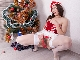 Julia Red enjoys Christmas time masturbating
