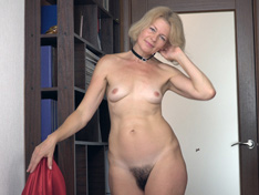 Diana Douglas strips and masturbates in a hallway