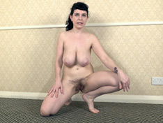 Suzie comes home from a walk to strip naked