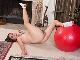 Ophelia Jones strips naked with her fit ball